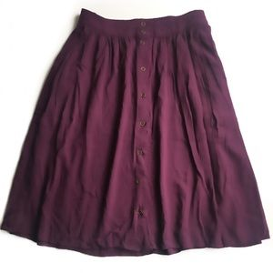 FOREVER 21 PLUS | Purple Button Down Skirt Size 1X